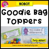 Goodie Bag Topper for Teachers, Staff, or Students (Robot Theme)