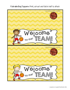 Goodie Bag Toppers for Teachers, Staff, or Students (Sports-Boys Set 2)