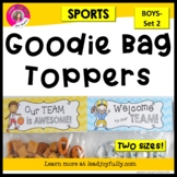 Goodie Bag Topper for Teachers, Staff, or Students: (Sports-Boys Set 2)