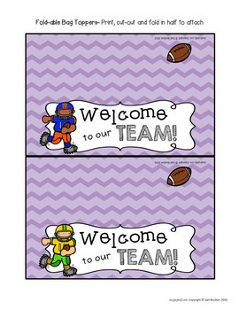 Goodie Bag Toppers for Teachers, Staff, or Students! (Sports Theme-Boys Set 1)