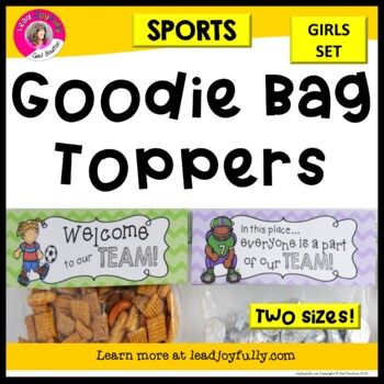 Goodie Bag Toppers for Teachers, Staff, or Students! (Spor
