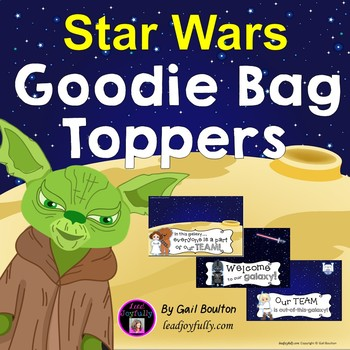 Goodie Bag Toppers for Teachers, Staff, or Students (Star