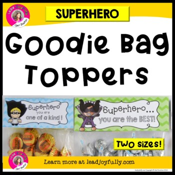 """""""Goodie Bag"""" Toppers for Teachers, Staff, or Students! (Su"""
