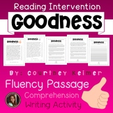 Goodness Fluency Passage & Comprehension Activities {Grade 6}