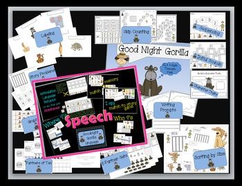 Good Night Gorilla Literacy - Math - Speech & Language Thematic Pack