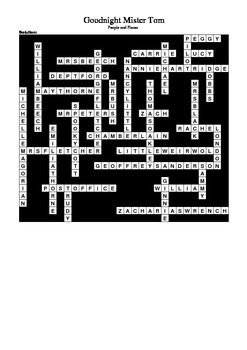 Goodnight Mister Tom by Michelle Magorian Crossword