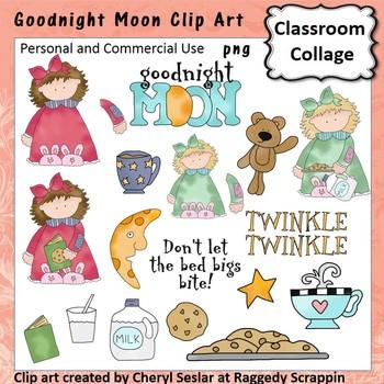 Goodnight Moon - Color - pers & comm cookies milk moon stars girls
