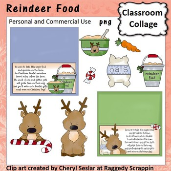 Reindeer Food - Color - pers & comm bag toppers carrot oats gift for kids