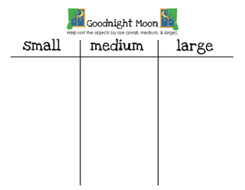 Goodnight Moon - Sorting By Size