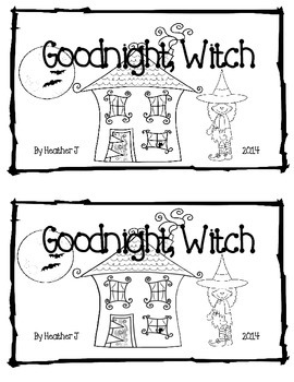 Goodnight Witch Rhyming Emergent Reader