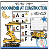 Goodnight at Construction Site Alphabet Cards