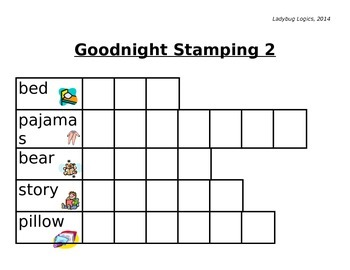 Goodnight/Nocturnal Letter Stamping Words
