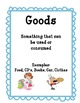 Goods & Services Economics Card Sort