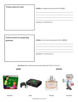 Goods/Services Practice Worksheet