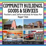 Community Buildings, Goods and Services: Posters and Informational Articles