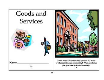Goods and Services: A First Grade Unit