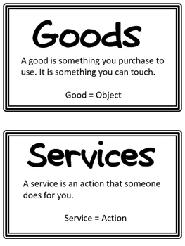 Goods and Services Activities