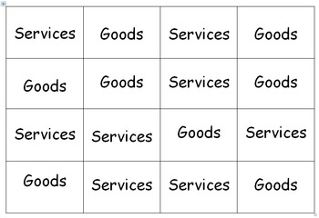 Goods and Services Activities Bundle