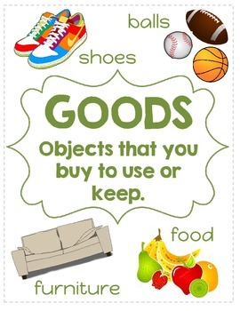 Goods and Services Anchor Charts