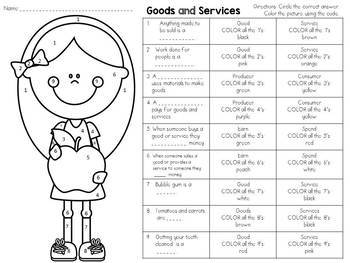 Goods and Services Color-By-Number
