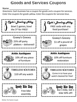 Goods and Services Coupons
