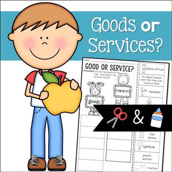 Goods and Services Cut and Paste Sorting Activity