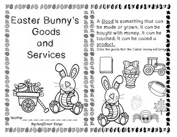 Goods and Services Easter Activities Reader