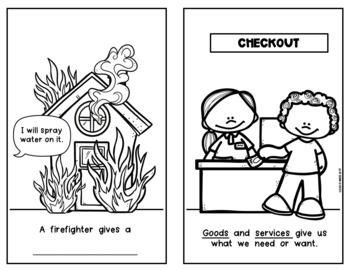 {Goods and Services} Emergent Reader Economics Social Studies Kindergarten