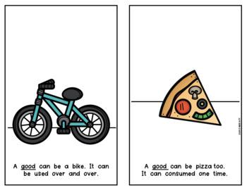 Goods & Services Reader Economics for Social Studies Kindergarten