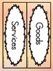 Goods and  Services (Literacy Center and Write the Room Activity)