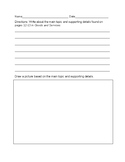Goods and Services Main Idea Writing Paper