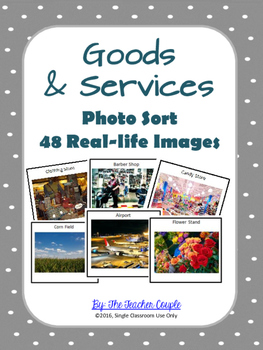 Goods and Services Photo Sort - 48 Real-life Images to Sort