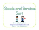 Goods and Services Pocket Chart Sort & Student Sort
