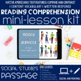 Goods and Services Reading Comprehension Mini Lesson Digital
