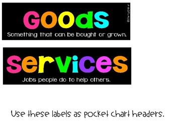 Goods and Services Set