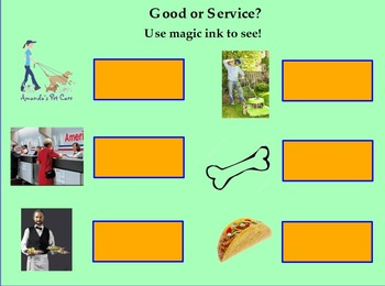 Goods and Services ; Social Studies Gr. 1 CA