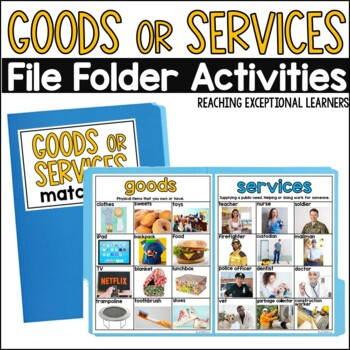 SPED File Folder Activities: Goods and Services