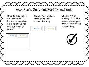 Goods and Services Sorting Activity