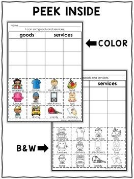 Interactive Sorting - Goods and Services Activity