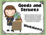 Goods and Services Worksheets ~ 2nd Grade Georgia Social Studies