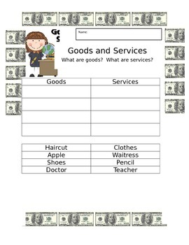 Goods and Services cut and paste