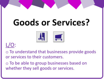 Goods or Services? Business Studies Lesson