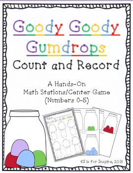 Goody Goody Gumdrops: Count & Record Differentiated Center/Station Activity