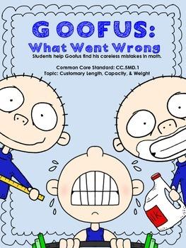 Goofus: What Went Wrong -- Error Analysis Customary Measurement