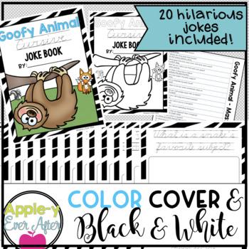 Goofy Animal PRINTING AND CURSIVE Practice Joke Book