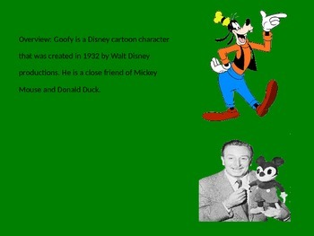 Goofy - Disney Character Power Point - Fun History and Facts