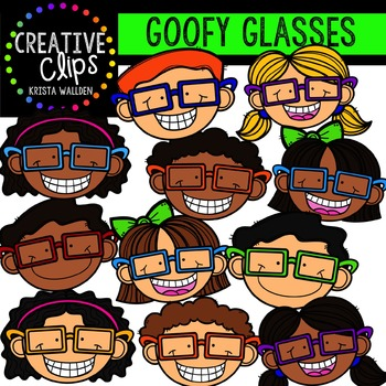 Goofy Glasses Kids {Creative Clips Digital Clipart}
