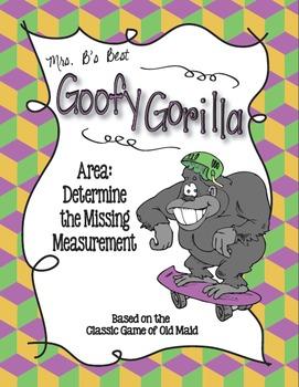 Goofy Gorilla Card Game: Area - Determine the Missing Measurement
