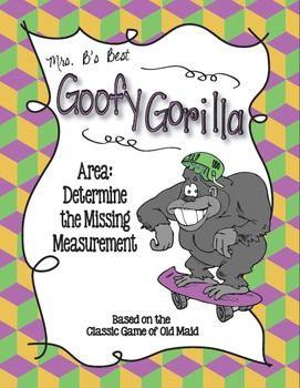 Goofy Gorilla Card Game: Area - Determine the Missing Measurement