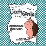 Goofy Gorilla Card Game: Improper Fractions & Mixed Numbers